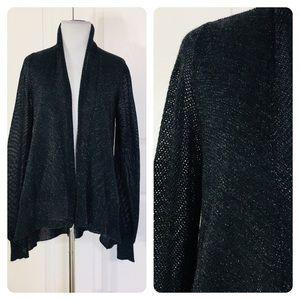 Eileen Fisher black metallic cardigan